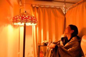 サロンのご案内>コース2「ミスト温浴とリンパマッサージで体の怠さ、むくみスッキリコース」